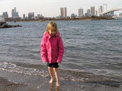 Paddling in Sea of Japan