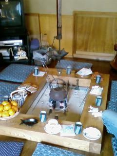 Tea around hibachi