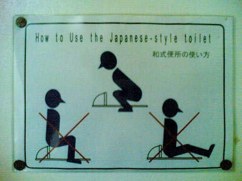 How to use a Japanese toilet