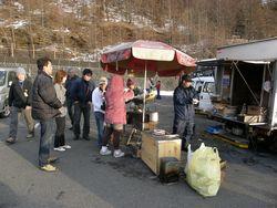 Sweetcorn seller on Fuji