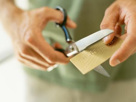 Cutting up credit card