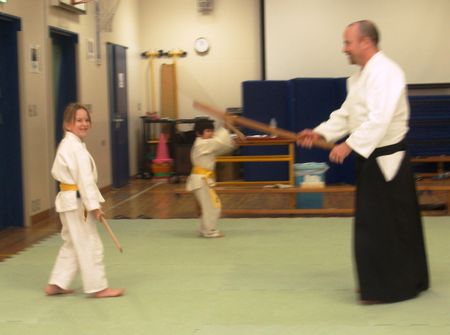 Aikido with sticks
