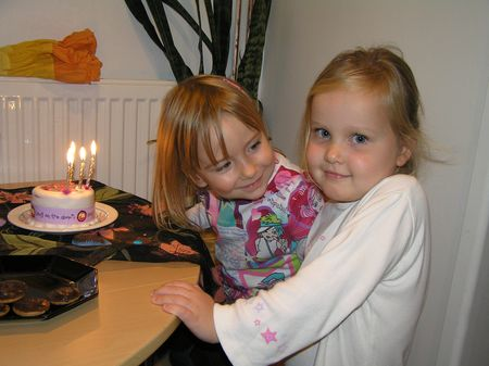 Eve & Rhiannon on R's 4th b'd