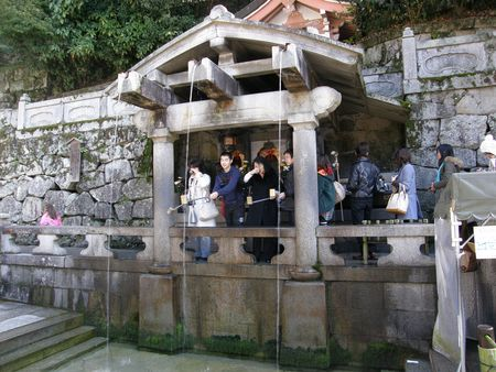 Kiyomizu-dera water drinking
