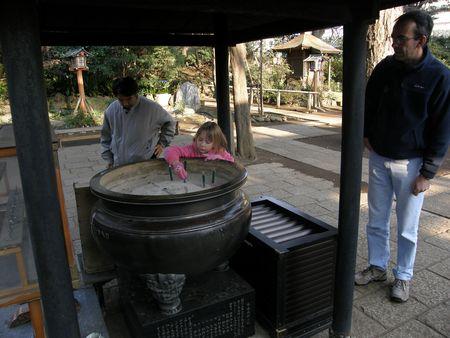 Rhiannon at a shrine
