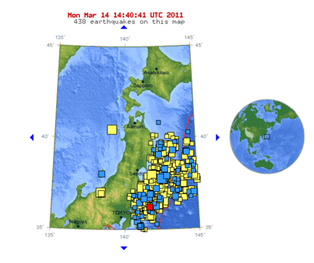 Earthquake map 14-3