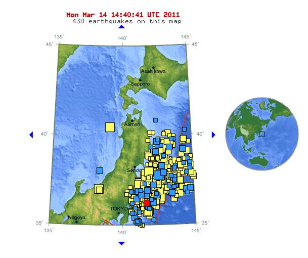 Earthquake map 14-3