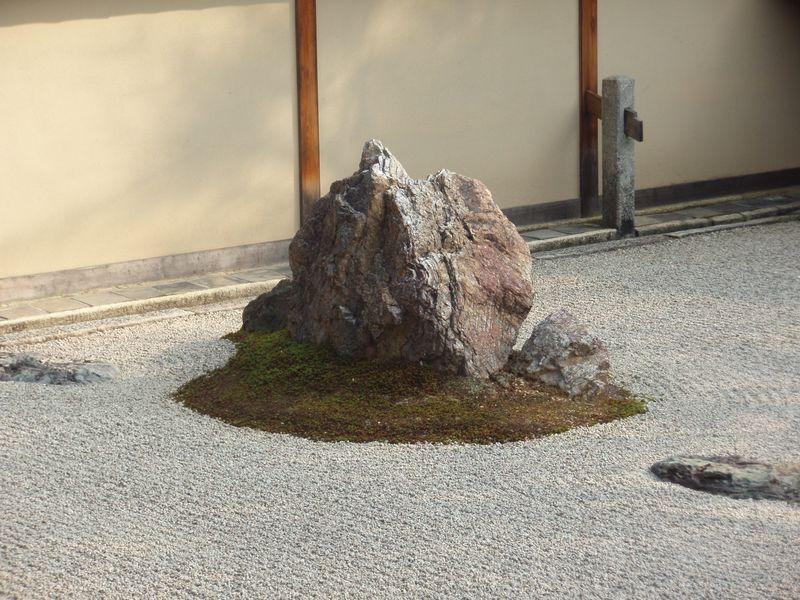 Ryoanji Zen Garden rock