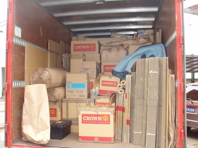 Packed lorry