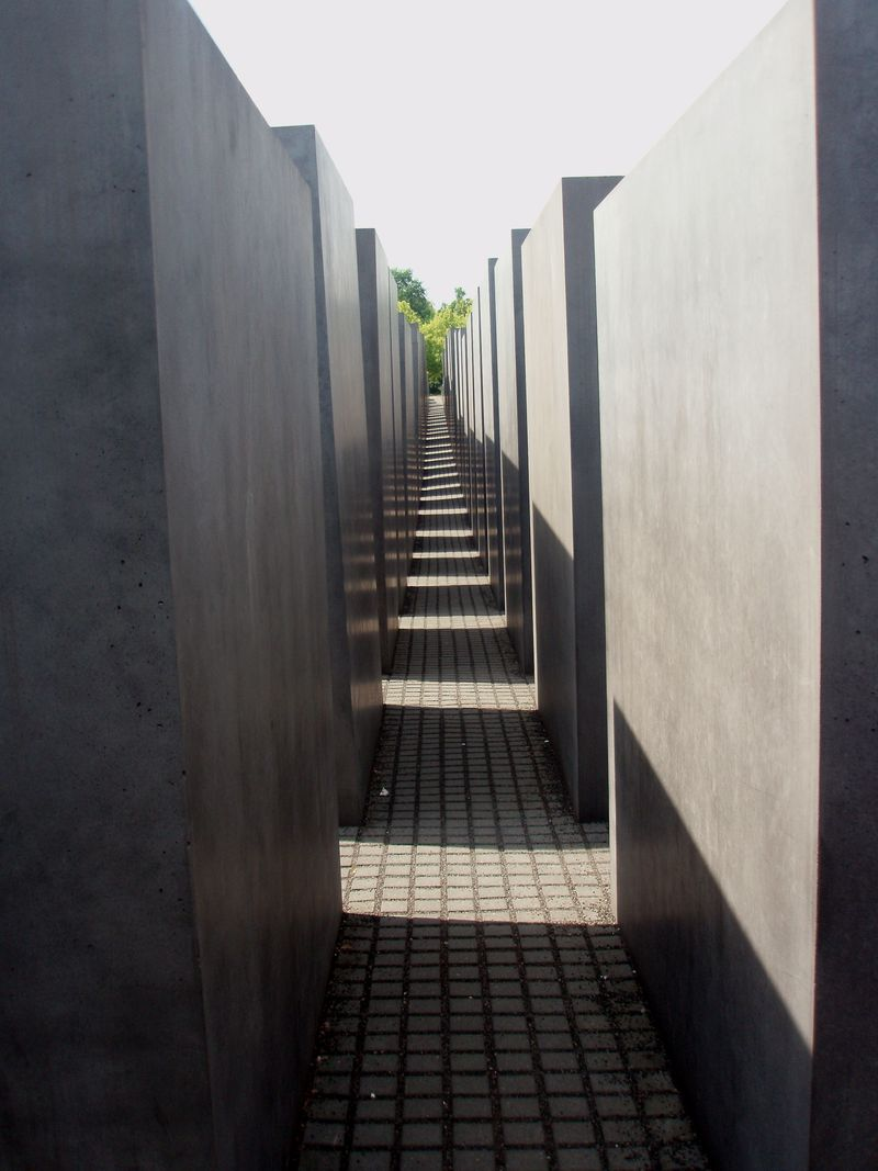 Holocaust Memorial alley adj