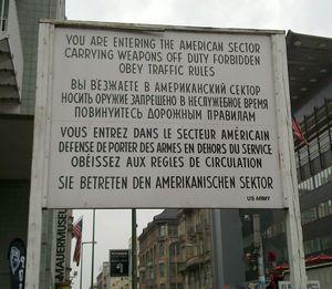 Entering American Sector